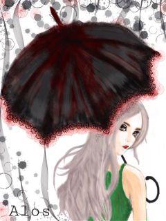 color splash people rain dcumbrella colorful