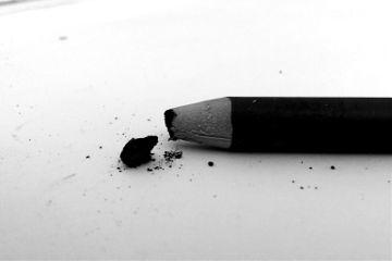 black & white emotions pencil art
