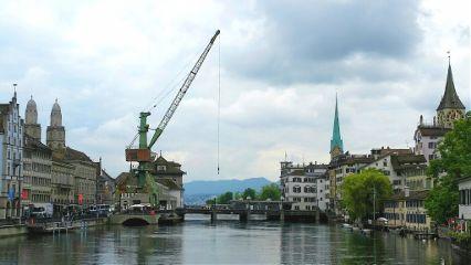 zurich crane church switzerland zurich