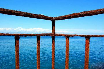 sea rust sky blue photography