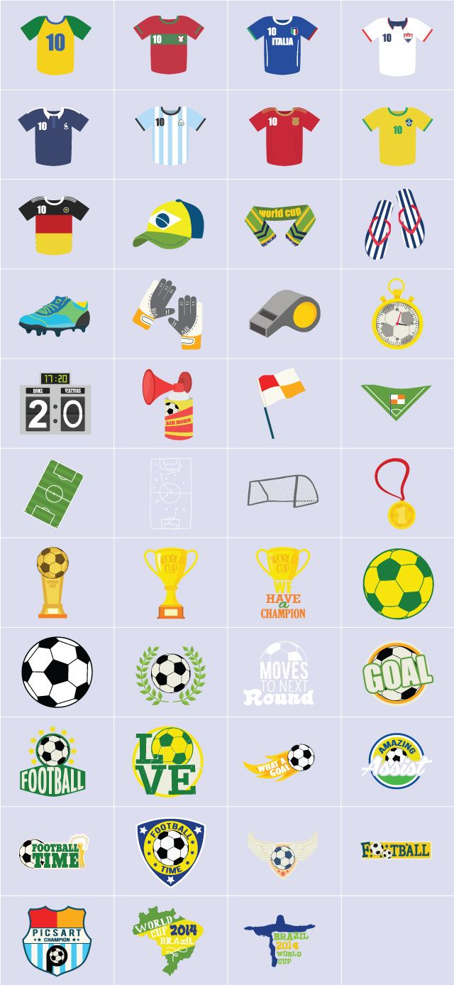 world cup clipart package