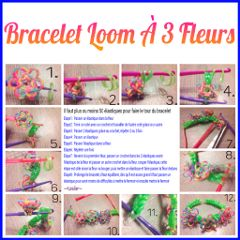 bracelet loom collage colorful lesliecreation flower