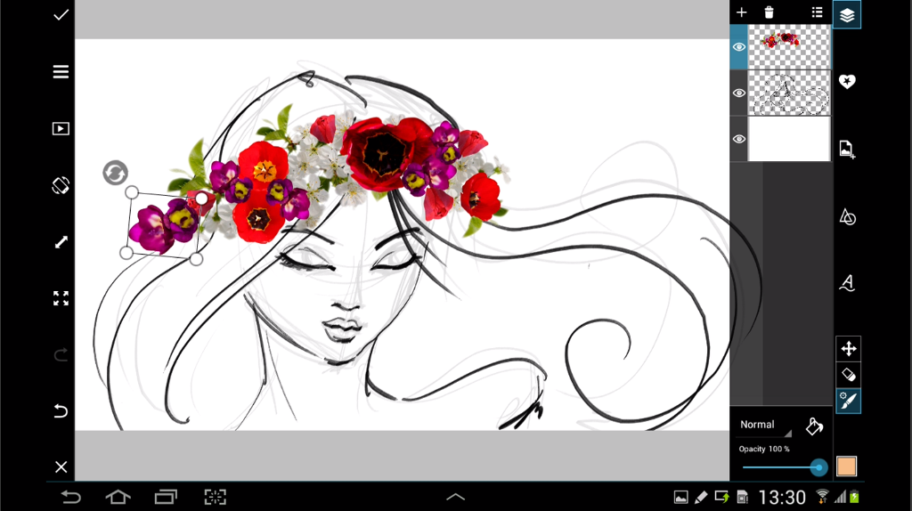 How to decorate your drawings with flower clipart create each flower can be rotated resized and moved into place with dexterity so get as creative as you want in the making of your crown izmirmasajfo