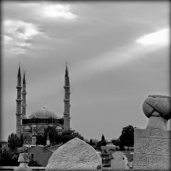 black & white turkey travel edirne architectur