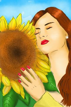 dcsunflowers drawing