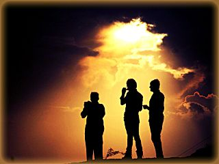 sunset people friends photography