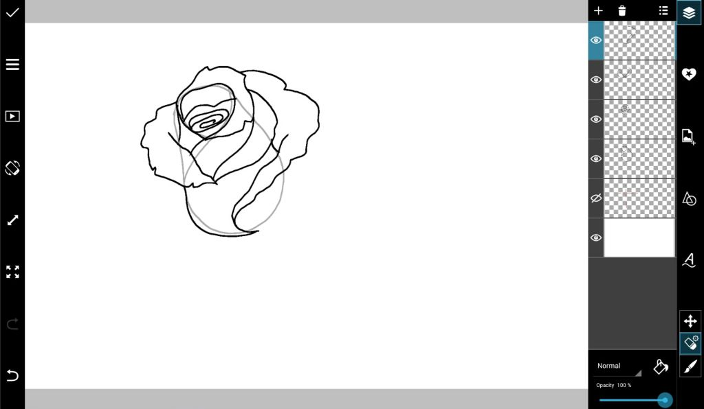 how to draw a rose with picsart