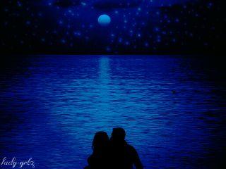 blue seaside people love dream