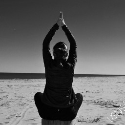 yogapose blacknwhite