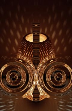 abstract golden lamp
